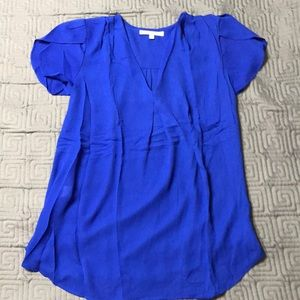 Daniel Rainn royal blue maternity blouse S